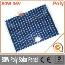 80W 36V polycrystalline solar panel, PV panel for solar power system, solar module