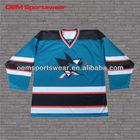 Authentic sublimated team NHL hockey jerseys custom