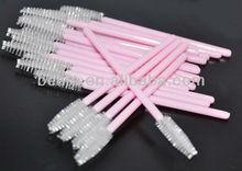 Pink Eyelash Extension Disposable Mascara Wands Brushes Color