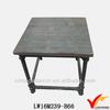 Square metal legged wood top super stylish metal planter table