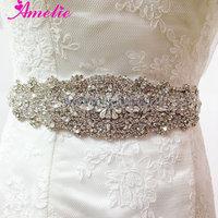 Crystal and Rhinestone Beaded Bridal Sash Belt
