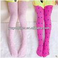 nova chegada 2015 primavera verão meias ballet bonito jacquard polka dots tecido de lycra calças crianças