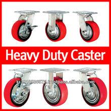 3, 4, 5, 6, 8 inches P.U Heavy duty trolley Caster wheel