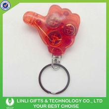 Red Mini Promotion Finger Light Keyring