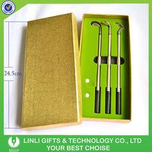 Gold Color Box Metal Pen Mini Golf Set