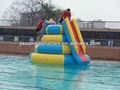 una vez sellado inflable obstáculo de agua isla flotante