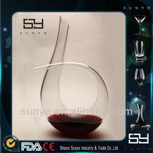 New Design Handmade Art Fancy Cheap Glass Decanter