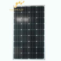 160w bipv solar panel laminate no frame glass surface