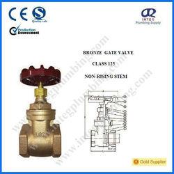 Rising Stem Bronze Gate Valve with cast iron handwheel