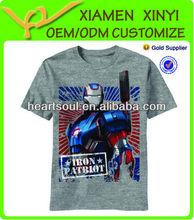 High Quality Cheap Heat Transfer Printing Men Brand Name T-shirt