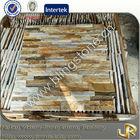 Gold quartz slate flat natural stones for construction