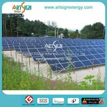 Photovoltaic solar mounting system 100kw, 1MW solar farm power plant