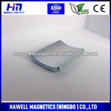 arc shape neodymium magnet for motor generators