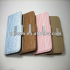 Wallet card-slot pu leather cell mobile phone case for iphone 4s 5