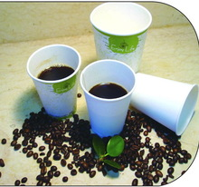 Disposable no harm paper coffee cup with lid