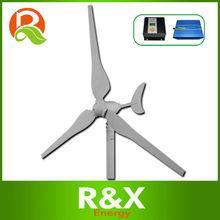 3 fase de viento generador de turbina de 50w. Se combinan con el viento/híbrido solar controller+inverter