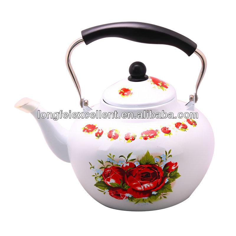Apple Shape Tea Pot Enamel Water Kettle - Buy Water Kettle,Tea ...