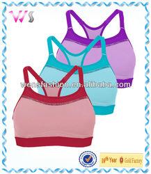 2014 latest fashionable super plain sport bra