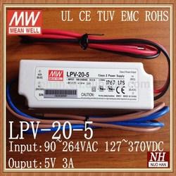 Meanwell 5v 20w led driver/Constant Voltage white led driver/5v led driver 20w