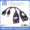 Hot sell USB TO RJ45 Extender Converter Lan Extention M/F Adapter UP TO 150FT Lengh via CAT5/CAT5e/CAT6 Cable