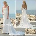Faible retour robe de mariée pour larges épaules-- hs104