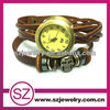 Cheap leather bracelet watches mens hand watch brand