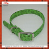 2014 New Delicate PU Green dog collar