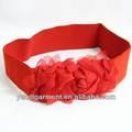 Venta caliente de color rojo de cuero mujer cinturones de elaboración, vestido de la muchacha con elástico en la cintura, amplia corsé de cuero cinturones