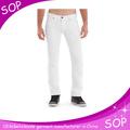 ผู้ชายบางพอดีกางเกงยีนส์ผอมจริงสีขาว2015