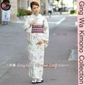 Fu-ka moda giapponese kimono negozio membro del club abito 100% poliestere dama bianca arabesqu lavabile foderato abito kimono