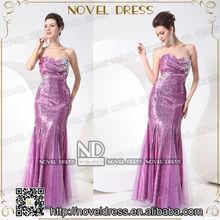 Elegant Sweetheart Beaded Sequined Lady Dress Fashion Sequin Dress