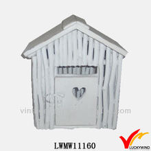 hand paint white cute wood bird house best products for import