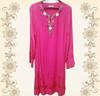jubah pink dress solid medest women dress abaya dress abaya