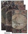 olde mapa do mundo decorativo caixas livro