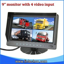 2013 Lowest price Chinese factoy 9 inch roof car lcd monitor with hdmi input for truck