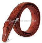 High quality genuine leather crocodile leather belt for man