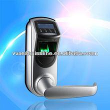 Biometric fingerprint door lock system/keypad/ID card/USB port/silver color