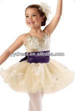 Royal Lace Kids Stage Dancing Champagne Tutu Dress Ballet