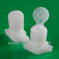 China fábrica de plástico 15 mm plástico bica com o flip top cap