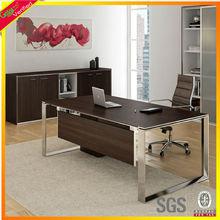 Melamine office furniture Executive Office Desks, Steel leg office desk, China supplier metal office desk