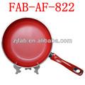 tema caliente de aluminio antiadherente forjado de cerámica roja revestimiento frying pans