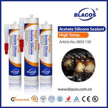 Heat Resistance (250C Long Term) 100% High Temperature Resistance Silicone Sealant