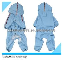 Cheap price Blue Dog nylon raincoat for PET dog