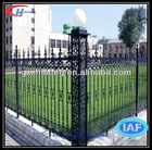 cast iron fence finials/Cheap pvc coated ornamental Wrought Iron Fence for sale(Factory&ISO9001)