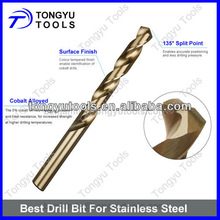 HSS Cobalt Fully Ground Stainless Steel Drill Bits