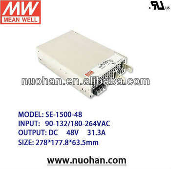 Meanwell 1500W 48V switching power supply/1500W Single Output Power Supply/high voltage switching power supply