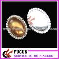 Venta al por mayor de diamantes de imitación de la perla broche para la invitación de la boda