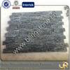 Striped black slate ledge stone