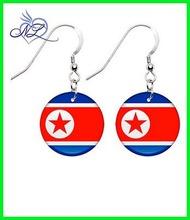 North Korea Flag Earrings alibaba website fashion jewelry