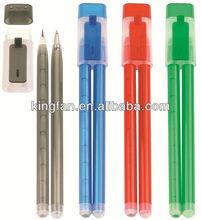 plastic hot-selling couple pens (pencil + ball pen)